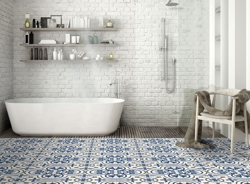What Are The Benefits Of Encaustic Tiles That Make It A Popular Choice For Bathroom?
