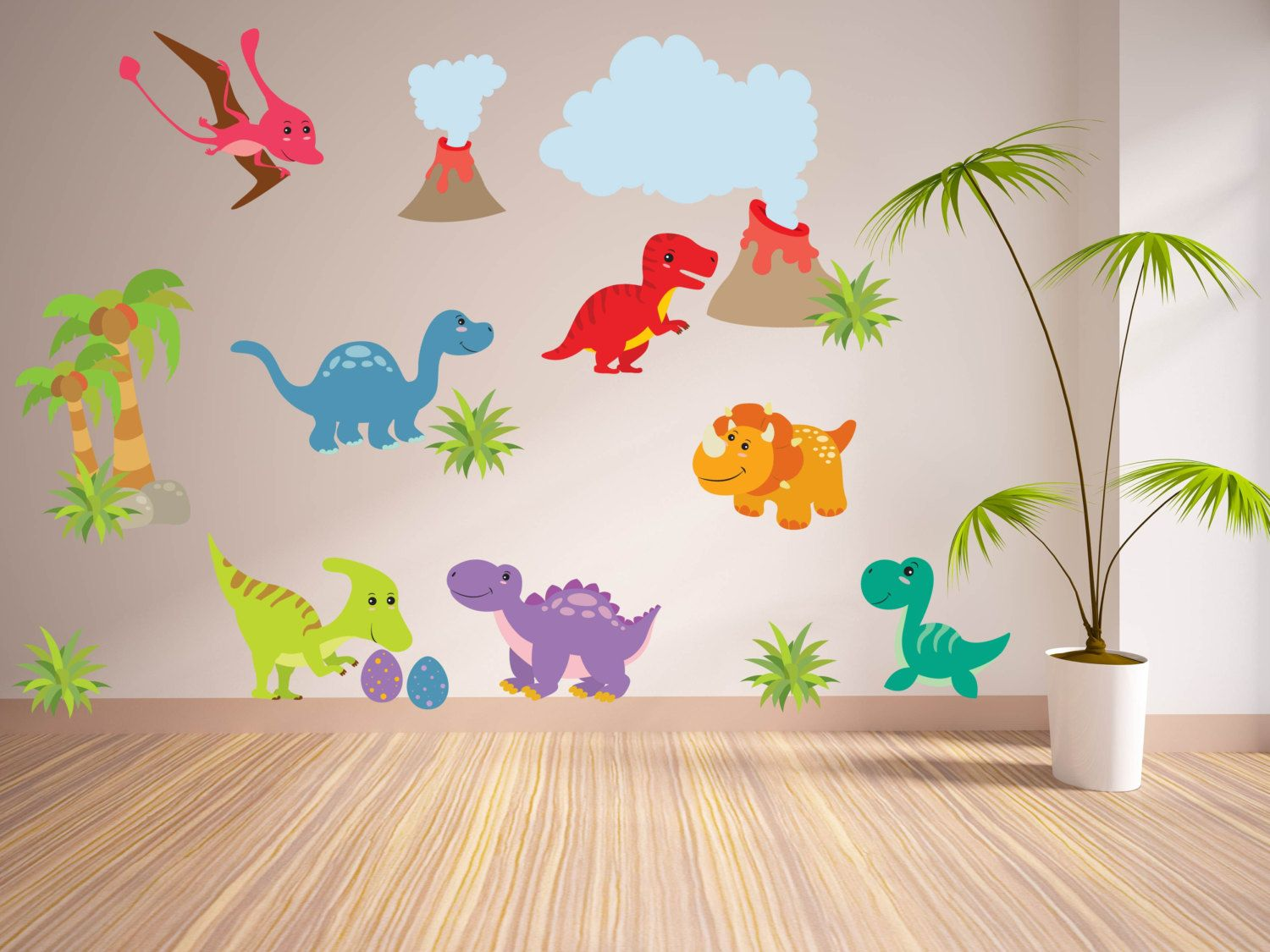 Make your Room Stylish with Wall decor Stickers and Dinosaur Wall Decals